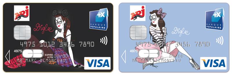 Carte NRJ Banque Pop' Diglee